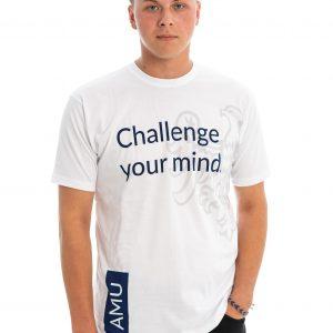 T-shirt UAM biały z angielskim hasłem