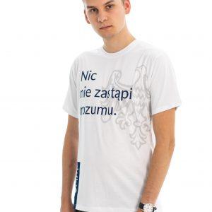 T-shirt UAM biały z polskim hasłem
